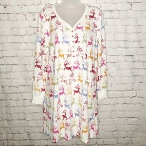 Charter club night gown deer holiday extra large